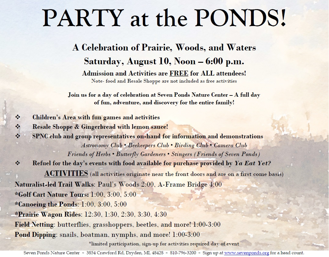Party at the Ponds 2019